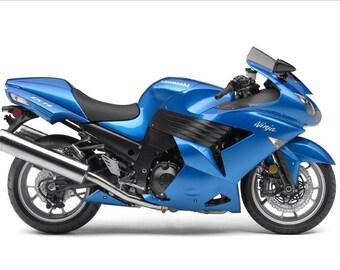 "Stickers set for moto - ""Kawasaki Ninja ZX-14""  2007 (replica)"