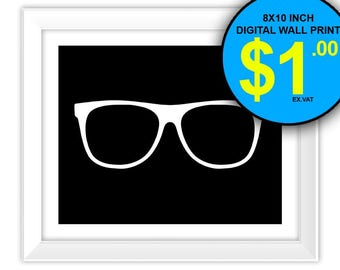 Reading Glasses Print, 8x10 Inch, Instant Download, Digital Print