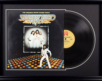 The Original Movie Sound Track of Saturday Night Fever Vintage Album in Frame