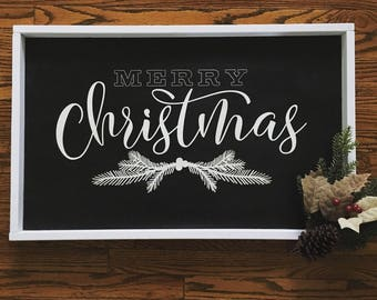 Merry Christmas Wood Sign - Vintage Decor - Farmhouse Living - Farmhouse Decor - Holiday Decor
