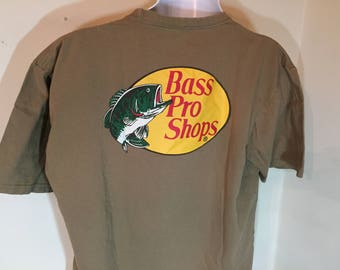 BASS PRO SHOPS-  Fishing Anglers Outdoors Brand   -T-Shirt Adult xL     t