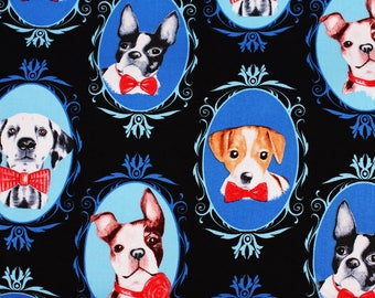 Various Dogs Cotton Fabric by Timeless Treasures Fabric by the Half Yard