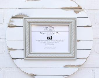 5x7 Shiplap Frame, gray farmhouse frame, fixer upper style, rustic picture frame, shiplap frame, shiplap decor, picture frame