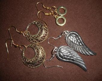 Earrings - Cestial, Angle Wings