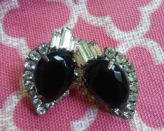 Vintage black onyx earrings