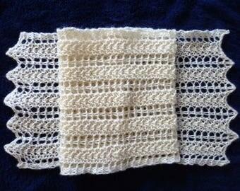 Lace scarf knitting kit
