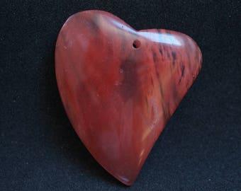 QUARTZ heart shaped pendant