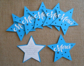 Star theme thank you card