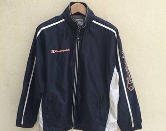Vintage Champion/Windbreaker/Jacket/Spell Out Logo/Size M