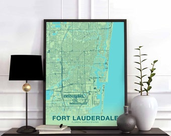 Fort lauderdale map Etsy