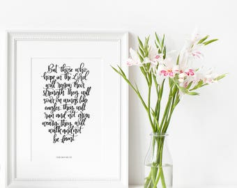 Isaiah 40:31 | Those who hope in the Lord | Christian gifts | Friendship gifts | Home decor | Wall art | Make Today Beautiful