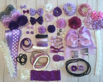 DIY headband kit, baby shower headband kit, birthday party, DIY hair set, hair accessories, headbands making kit, DIY headbands