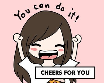 CHEER You Can Do It! / planner stickers, motivation stickers, inspiration stickers, happy stickers, emotion planner stickers / SD4