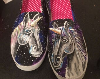Handpainted Unicorn Shoes