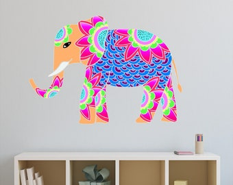 Elephant Wall Decal Etsy - Nursery wall decals elephant