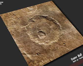 Battle mat: Crater Ball - Guild Ball game board, table map scenery for fantasy football boardgame terrain