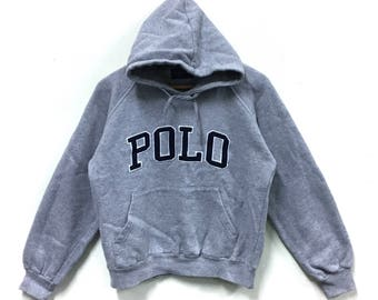 Rare!!! Polo Ralph Lauren Hoodie Sweatshirt Polo Big Logo Polo Bear Polo Stadium Polo Rugby