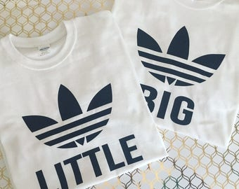 Big Little adidas inspired shirts, big little shirts, sorority family shirts