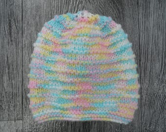 Hand Knitted 0-3 months Baby Hat