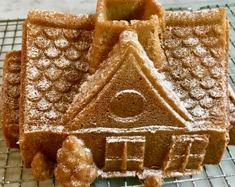 SUGAR FREE Gingerbread House Cake for Christmas / Holidays Available October Through December