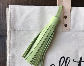 MINT Leather tassel- bag accessories- key chain- luggage tag- bag bling