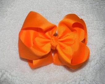 Orange Double Stacked Bow