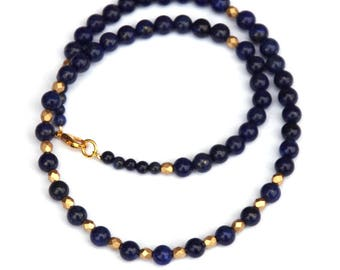 Lapis lazuli necklace, Lapis necklace, Egyptian jewelry, Egyptian revival, Egyptian necklace, gemstone necklace, gift for women, gemstones