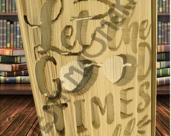 Let the Good Times Roll - Folded Book Art