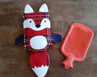 WOOL Fox Hot Water Bottle Cover