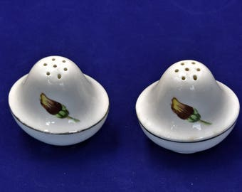Vintage Ceramic Salt and Pepper Shakers/Dinner Table Accessories/Table Ware
