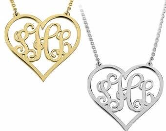 Monogram Heart Necklace