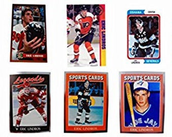 9 - Eric Lindros Odd-Ball Trading Card Lot