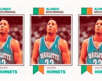 5 - 1993 SCD #31 Alonzo Mourning Basketball Card Lot Charlotte Hornets