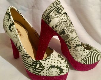 Betty Boop shoes / heels* * * uk sizes 3-8 * * *