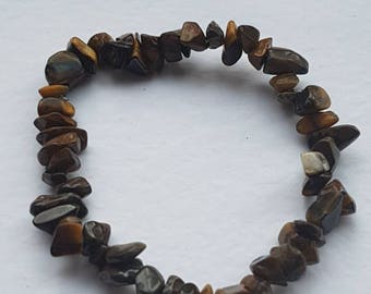 Tigers Eye gemstone bracelet,  chakra balancing, healing. Can be reiki charged on request