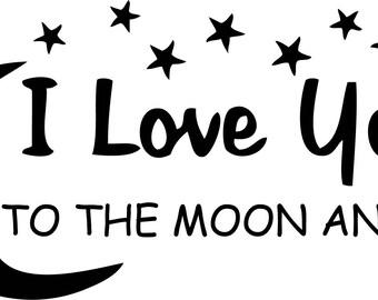 I love you to the moon  Printable wall art