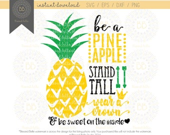 Be a Pineapple SVG, be a pineapple stand tall svg, svg, eps, dxf, png file, Silhouette, Cricut