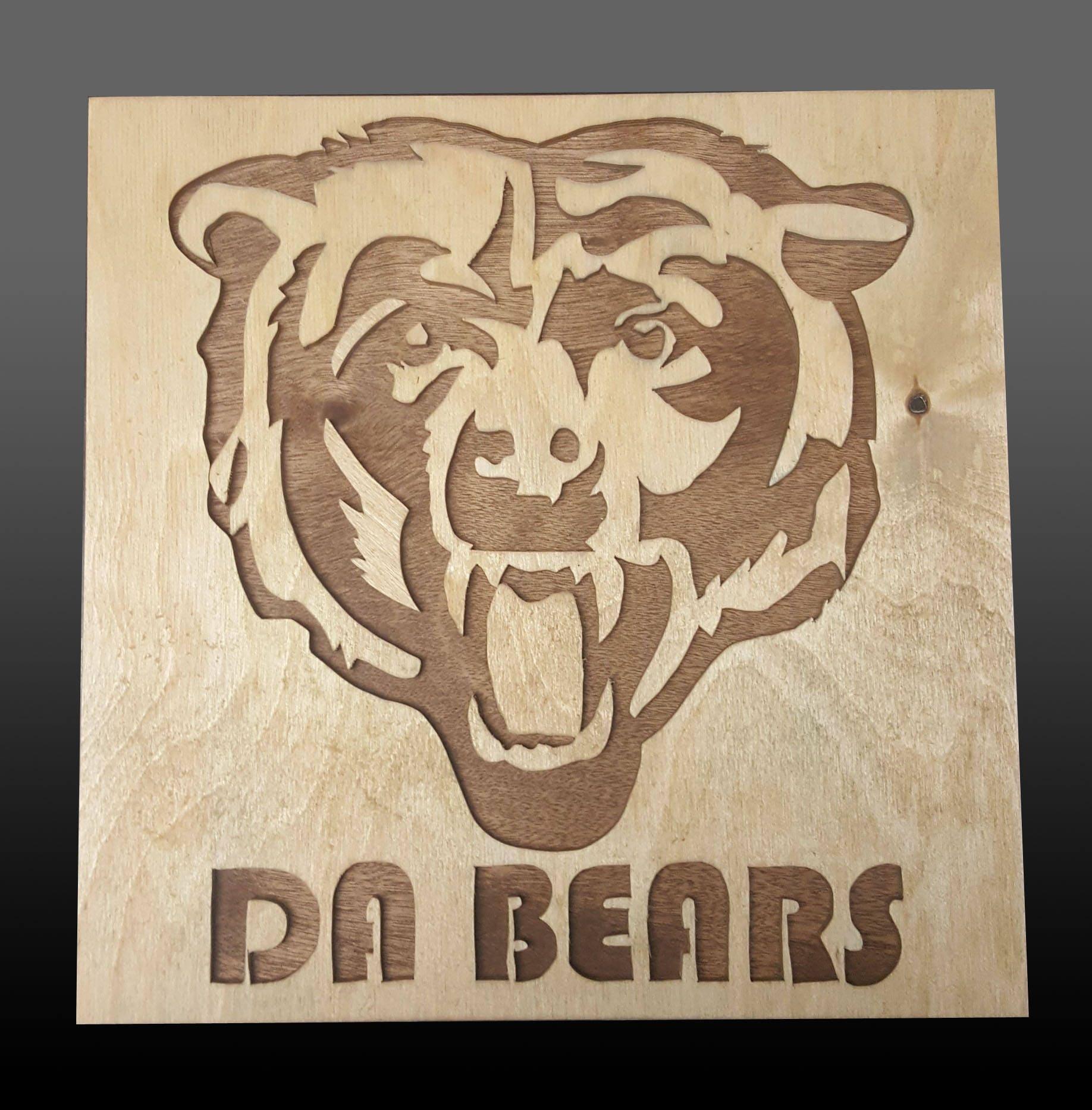 Chicago bears scroll saw art wall art wall decor details chicago bears amipublicfo Choice Image