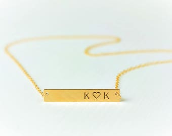 Personalized necklace, Bar necklace, Personalized, Gold Bar Necklace, Name Plate bar, Personaized bar necklace Initial necklace mothers gift