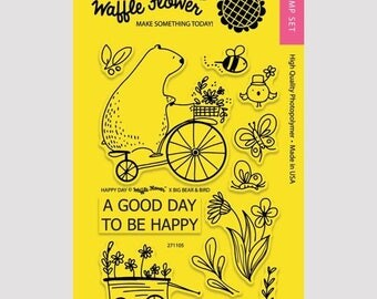 "Waffle Flower ""Happy Day"" Stamp Set"