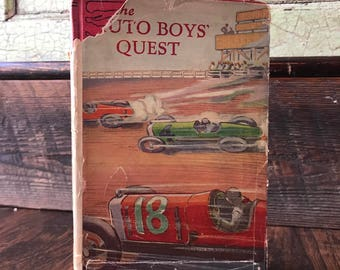 The Auto Boy's Quest - 1937 Hardcover Book