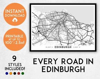 Edinburgh map print, Printable Edinburgh map art, Edinburgh print, Edinburgh art, Edinburgh poster, Edinburgh wall art, Scotland map print