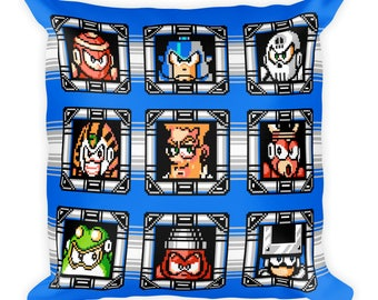 Mega Man 4 Robot Masters Pillow