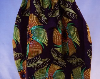Harem pants in African wax fabric, harem pants, harem colored pants, harem pants, Aladdin trousers, trousers with low crotch
