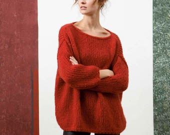 Luxury luxury sweaters of mohair, camel hair and silk oversized chunky knit