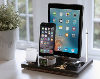 NytStnd TRAY 4 Midnight - FREE SHIPPING Charging Station Wireless iPhone8 iPad Apple Watch Apple Pencil AirPod Christmas Birthday Gift