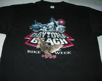 Daytona beach bike week 1995 Harley Davidson Vintage T shirt  new without tags made in USA size x-large