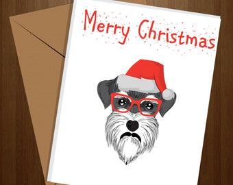 Schnauzer Christmas Cards, Dog Christmas Card, Schnauzer Christmas Card, Merry Christmas Card, Greeting Card