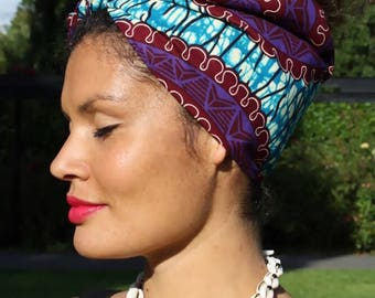 MY TRIBE headwrap 'Purple Nature'