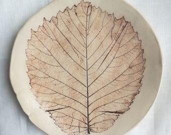 """Ceramic plates """"Leaves"""""""